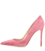 Zandina Ladies Handmade Fashion Elegant 100mm Pointy Basic Office Party Prom Высокие каблучные насосы Обувь Pink-SL