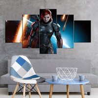Digital printing spray paint effects - Mass effect commander shepard female Frameless Paintings No Frame
