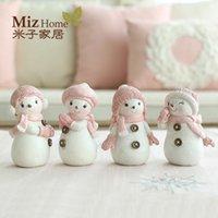 Wholesale Cute Wholesale Snowmen Decor - Wholesale-Miz Home Christmas 1 Piece Resin Decor Snowman Decor Cute Resin Craft Gift for Friend Wedding