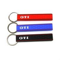 Wholesale Vw Golf New - New Style Golf MK5 Key Chain Genuine 4 Colors KeyChain GTI Honeycomb KeyTag Keyring Fit For VW Golf Wholesale 1pcs Hot Sale