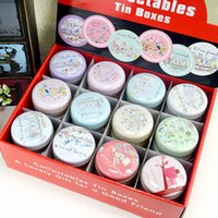 Wholesale tea tin europe - New Hot Mac Cosmetic MakeUp Organizer Tin Box Small Round Metal Candy Case 36pieces lot Iron Jewelry Storage Box Chewing Gum Tea Container