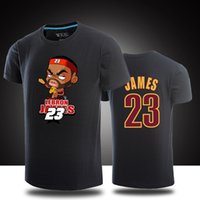 Wholesale lebron t shirts - 100 Cotton T Shirt Men Short Sleeve New Fashion 2017 Brand For Lebron James T Shirt Casual Basketball Tops Tees Man Clothing Cotton Tshirts