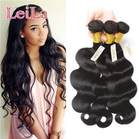 Cheap Malásia Hair Weave 3 Bundles Body Wave Virgin Hair Bundles 95-100 / g 3Pieces One Set Body Weave Natural Color