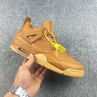 Avec Box Retro Air 4 IV Premium Pinnacle Wheat Chaussures de basket-ball Hommes Best Quality Sizes USA 7 13.5 Sneaker Wholesale Nouveau Arrivée