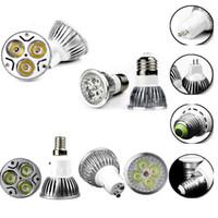 Wholesale LED Bulbs Lamp W W W Dimmable Bulb Lights GU10 MR16 E27 E14 B22 Spotlight High Power LED Bulbs Light DHL
