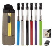 Wholesale Mini Ego Automatic - Wholesale- Hot 710xp Electronic Cigarette 350mAh Automatic battery Mini eGo 1.2ml atomizer Starter Vaporizer Kits