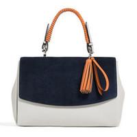 Wholesale Handbag Nubuck - Wholesale- Famous Brand Designer Ladies Handbags Luxury Clutches Women High Quality Nubuck Suede Leather Tote Shoulder Bags for Women