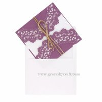 free engagement invitations 2018 - 50pcs lot free shipping Laser Cut Wedding Invitations Cards lace flowers design for Engagement Baby Shower Birthday Souvenirs Party Supplies