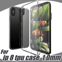 Wholesale Iphone Cover Case Style - For Iphone8 Iphone 7 LG X Style Case Soft Clear Cover 1.0mm TPU Silicon Gel Phone Cases Samsung Galaxy S8 Plus Note8