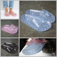 Wholesale Ladies Flat Crystals Sandals - 2017 Rihanna Leadcat X Fenty Bandana Crystal slippers Candy Girls Jelly Slides Bow Slipper Ladies Fashion Designer Beach shoes Sandals 36-40