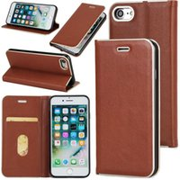 Wholesale Note Flip Back Cover - Vintage Magnetic Flip Stand Leather Wallet Case Phone Back Cover For Iphone 7 6s plus 5se Samsung Note 8 Fashion Kickstand Case