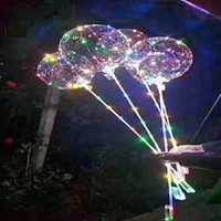 Globos que destellan Led Light Up Transparente Globo 3M Boda Decorativo Bright LEDs Globos con Stick Regalos de Navidad