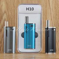 Wholesale Electronics Cigarett - 2017 Hot Vapes Kit H10 pyrex glass cartridge refresh oil atomizer a3 vape mini e cig integrated electronic cigarett mod box starter kit