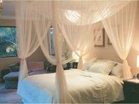 Wholesale Door Canopies - White 4 Corner Post Bed Canopy Mosquito Net Full Queen King Size Netting Bedding