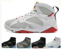 2017 Cheap Air retro 7 VII mens chaussures de basketball Cardinal Olympic Raptor blanc rouge noir chaussures de sport athlétisme sneaker version de haute qualité