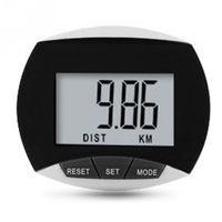 Wholesale Digital Lcd Pedometers - Wholesale- Mini Waterproof LCD Digital Step Pedometer Walking Calorie Tracker Exercise Distance Calculation Black Red