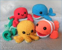 Wholesale Crochet Mobile - Wholesale- crochet Underwater Friends Sea Creatures or Mobile toy rattle