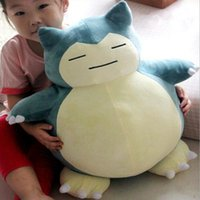 Wholesale stuffed animals for babies - High Quality Pikachu quot cm Snorlax Plush Doll Stuffed Toy Animals For Baby Best Gifts D037