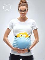 Wholesale Breastfeeding Styles - Summer Style Tee Funny Broken Egg Print Gravida T-shirt Pregnant Maternity T Shirts Casual Breastfeeding Top