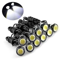 Wholesale Car Bumper Fogs - Universal 10pcs High Power White 9w LED Eagle Eye Bumper DRL Fog Light Motorcycle Light Daytime Running DRL Tail Backup Light Car Motor