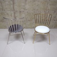 Wholesale customized stainless steel chairs for modern house modern Nordic Europe dining chair fast shipping