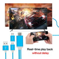 Wholesale mhl hdmi converter - Universal MHL Cable MHL to HDMI Converter Adapter HDMI Cable for Android phone Micro USB to HDMI 1080P Miracast Never Delay to play
