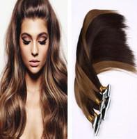 "Wholesale Extension Glue Skin - New Arrival 18""-28'' Blonde Straight Hair 100% Brazilian Hair PU Skin Weft Tape Hair Extensions 3pcs lot Glue Skin Weft"