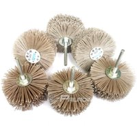 Wholesale Wood Parting Tool - 4 pieces Abrasive Wire Grinding Flower Head Wood Furniture Mahogany Polishing Brush OD 85*6mm shank