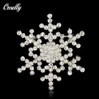 Full Crystal Rhinestone Flower Broches Broches Snowflake Wedding Bridal Bouquet Broches Broach Jóias Atacado A Granel