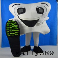Wholesale Tooth Costume Make - 2017 High quality Halloween teeth mascot dolls costumes adult size fancy walk props costume carnival