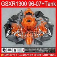 Wholesale Hayabusa Black Orange - 8Gifts 23Colors For SUZUKI Hayabusa GSXR1300 96 07 2002 2003 2004 15NO53 Orange black GSX R1300 GSXR-1300 GSXR 1300 2005 2006 2007 Fairing