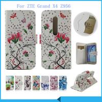 couvertures zte grand x achat en gros de-Etui portefeuille pour ZTE Grand X4 Z956 pour ZTE Grand X Max 2 Z988 Z963U Kirk Flip Housse pochette