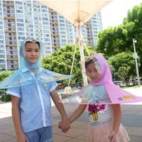 Wholesale umbrella sleeves - Umbrella With Rain Cover Hat Bumbershoot Artifact Wearing Umbrellas Cap Personality Reuse Optional Simple Sleeve Popular 7 2zc H1 R
