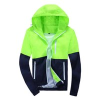 Wholesale Long Outerwear For Spring - Fashion Thin Brand Windbreaker Jackets Men Women Unisex Basic Coats Hooded Jackets Zipper Coat Outerwear Clothing For Spring Aut