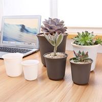 Wholesale Large Flowers Pots - DHL Plastic Pots for Plants Circle Planter for Decoration of Home Office Desk Garden Flower Shop