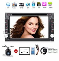 Wholesale Touch Screen Stereo Navigation - 2 din New universal Car DVD Player GPS Navigation In dash Stereo video Free Map Camera car multimedia