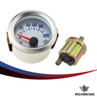 """Wholesale Gauges Oil Press - PQY RACING - Silver Car Motor Universal Pointer 2"""" 52mm Oil Press Pressure Gauge Dials PSI PQY-TAG04-OP"""