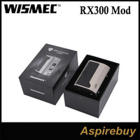 Wholesale Interface Leather - Wismec Reuleaux RX300 Mod 300W TC VW Mod New Interface with OLED Screen 4 18650 Battery RC Adapter Leather Carbon Fiber Version 100% Genius