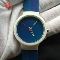 Wholesale Silicone Watch Boxed - mixed color watches unisex lovers wristwatches men brand quartz watches plastic silicone watch clock without box free shiping