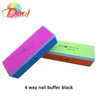 Wholesale art block - 30 New style Nail buffer block for Nail Art nail file buffer polish smooth with sides