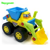Atacado- Happyxuan Kids Cute Cartoon Inertia Sand Dump Truck Toy Plastic 20 * 13 * 11cm Água e areia Play Outdoor Fun Children Gift