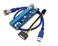 Wholesale PCI E Express Extender Riser Card Adapter X to X w Pin Power Cable USB Ports Cables For Bitcoin