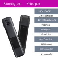 Wholesale Dvr Camera Voice Recording - Free Shipping!Mini DVR C11 H.264 Full HD 1080p Infrared Wifi Camera Pen Meeting Recording Pen Voice Video Recorder