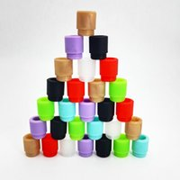 Wholesale tester drip tips resale online - Silicone Mouthpiece Cover Drip Tip Disposable Colorful Silicon Testing Caps Rubber Short Test Tips Tester Cap for TFV8 Tfv big Baby