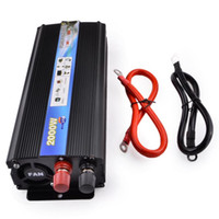 Wholesale Converter 24v Dc - Wholesale-2000W Car Vehicle USB DC 24V to AC 220V Power Inverter Adapter Converter - Black