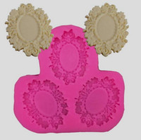 Wholesale lace mold cutters for sale - Group buy 10PCS Retro photo frame with lace Fondant Cake Chocolate Cookies Sugarcraft Mold Cutter Silicone Mould Bake Tools DIY Hot Sale Retr