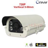 Wholesale Array Leds Cameras - 5-50mm Varifocal Lens Network Security CCTV IP Camera Outdoor H.264 720P Infrared Array LEDs Weatherproof for Video Surveillance