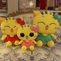 Wholesale Toy Tubas - Will The Cat Plush Doll Face Toys Cool Cat Lovely Tuba Pillow Cartoon Cloth A Doll Birthday Girl Student