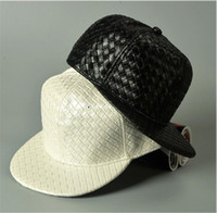 3b52a338173 Wholesale leather blanks online - Korean DIY Blank Hats PU leather hip hop hat  men and