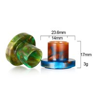 Wholesale Exo Caps - Beautiful Epoxy Resin Cleito EXO Drip Caps Drip Tips Wide Bore Resin Holder Cover VS Cleito 120 Tips Electronic Cigarette